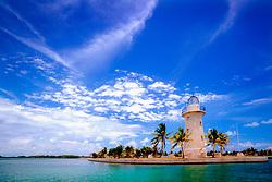 lighthouse (ornamental), Boca Chita Key, Biscayne National Park, Florida, USA, Atlantic Ocean