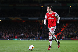 Mesut Ozil of Arsenal on the ball  - Mandatory by-line: Arron Gent/JMP - 27/02/2020 - FOOTBALL - Emirates Stadium - London, England - Arsenal v Olympiacos - UEFA Europa League Round of 32 second leg