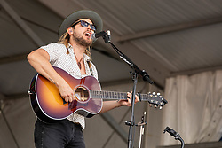 May 3, 2018 - New Orleans, Louisiana, U.S - CHANCE MCCOY of Old Crow Medicine Show during 2018 New Orleans Jazz and Heritage Festival at Race Course Fair Grounds in New Orleans, Louisiana (Credit Image: © Daniel DeSlover via ZUMA Wire)