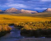 Blackstone River and The Taiga ranges, Blackstone Plateau, Yukon Territory, Canada.