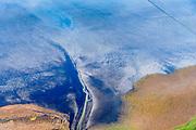Nederland, Friesland, Het Bildt, gemeente Waadhoeke, 04-11-2018; Noord-Friesland Buitendijks, kweldergebied Noorderleeg, waddenkust en landaanwinning. Uitwatering van de Kouwe Faart op het wad, bij Zwarte Haan.<br /> Fries: Noarderleech , onderdeel van Noard-Fryslân Bûtendyks.<br /> Frisian coast, salt marsh and mudflat area with land reclamation, <br /> luchtfoto (toeslag op standaard tarieven);<br /> aerial photo (additional fee required);<br /> copyright © foto/photo Siebe Swart