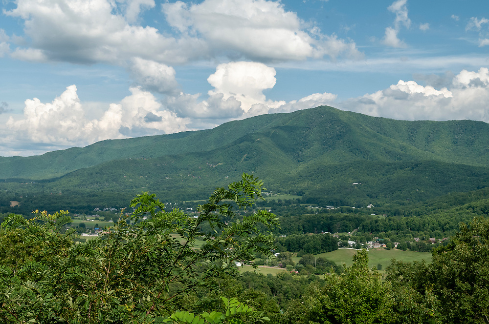 View of Wears Valley at the base of Cove Mountain at the Wears Valley Overlook on the Foothills Parkway in Great Smoky Mountains National Park in Walland, Tennessee on Wednesday, August 12, 2020. Copyright 2020 Jason Barnette