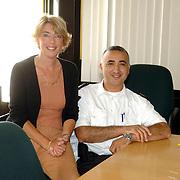 NLD/Huizen/20060816 - Werkgroep Diversiteit politie Gooi en Vechtstreek, Sandra Williams en Suat Delice
