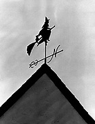 The vane on the house in the Magnolia area is a neighborhood conversation piece. A neighbor said it has been on the roof since the 1930s. (Peter Liddell / The Seattle Times, 1983)