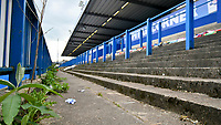 Rugby Union - 2021 Women's Six Nations - Group B - Round Two - Wales vs Ireland - Cardiff Arms Park<br /> <br /> A deserted terrace, overgrown with weeds  at Cardiff Arms Park, with the match still subject to Cover 19  restrictions  played with no crowd <br /> <br /> COLORSPORT/WINSTON BYNORTH