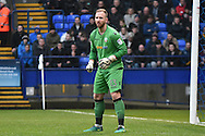 Bolton Wanderers Goalkeeper, Ben Alnwick (13) during the The FA Cup 3rd round match between Bolton Wanderers and Crystal Palace at the Macron Stadium, Bolton, England on 7 January 2017. Photo by Mark Pollitt.
