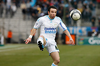 FOOTBALL - FRENCH CHAMPIONSHIP 2009/2010 - L1 - OLYMPIQUE MARSEILLE v FC LORIENT - 07/03/2010 - PHOTO PHILIPPE LAURENSON / DPPI - MATHIEU VALBUENA (OM)
