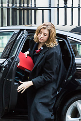 London, November 29 2017. Secretary of State for International Development Penny Mordaunt is seen arriving in Downing Street to a meeting at No. 10. © Paul Davey