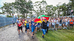 Os primeiros planetários e público em geral na 22ª edição do Planeta Atlântida. O maior festival de música do Sul do Brasil ocorre nos dias 3 e 4 de fevereiro, na SABA, na praia de Atlântida, no Litoral Norte gaúcho.  Foto: Marcos Nagelstein / Agência Preview