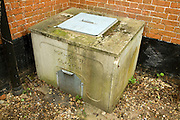 Traditional domestic coal bunker made by Rok-Crete of Clacton, UK