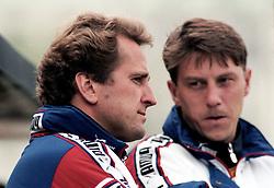 May 29, 1997 - BorS, SVERIGE - 960918 AIKs trŠnare Erik HamrŽn och Kjell Jonevret under finalen i Svenska Cupen mellan Elfsborg och AIK den 29 Maj 1997 i BorŒs..Bildbyran / 20662 (Credit Image: © Bildbyran via ZUMA Wire)