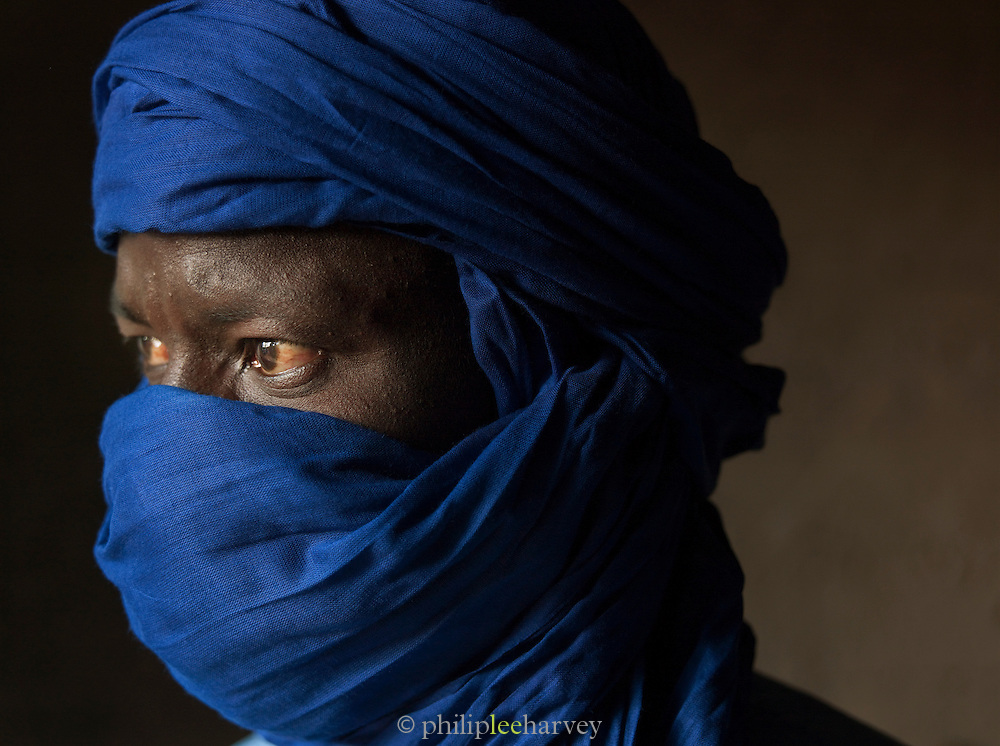 Portrait of a tuareg man in Djenné, Mali