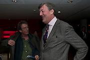 JOHN HURT; STEPHEN FRY, FIRST NIGHT for Matthew Bourne's Swan Lake. Sadler's Wells. London. 11 December 2009
