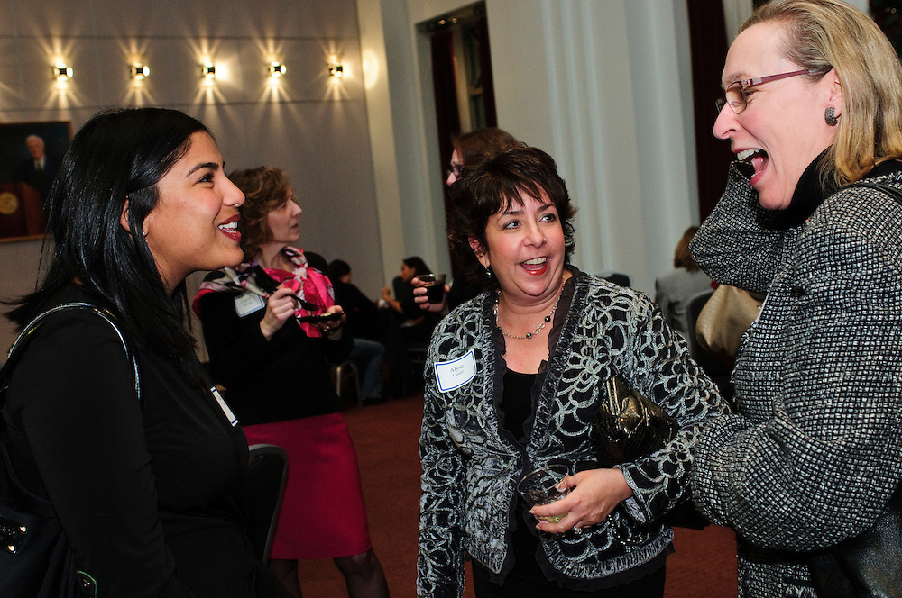 From left to right- Associate Attorney Keya R. Milla of Segal McCambridge Singer & Mahoney, Ltd. chats with Insight Executive Search Partners President Alyse I. Lasser and Loyola University School of Law Director Jayne Schreiber during The Chicago Bar Association (CBA) Holiday Party on Thursday, December 6th. The event is hosted by CBA's Alliance for Women, Black Women Lawyers' Association, Coalition of WomenÕs Initiatives in Law, WomenÕs Bar.Association of Illinois and the YLS Women in the Law Committee  © 2012 Brian J. Morowczynski ViaPhotos