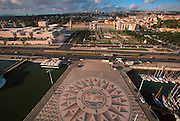 PORTUGAL, LISBON, BELEM, Monument to Discoveries; mosaic