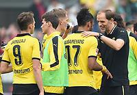 Fotball<br /> Tyskland<br /> 12.09.2015<br /> Foto: Witters/Digitalsport<br /> NORWAY ONLY<br /> <br /> Schlussjubel v.l. Adnan Januzaj, Pierre-Emerick Aubameyang, Trainer Thomas Tuchel (Dortmund)<br /> Fussball Bundesliga, Hannover 96 - Borussia Dortmund 2:4