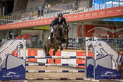 Kerckhove Enzo, BEL, Qornet Vd Bisschop<br /> Pavo Hengsten competitie - Oudsbergen 2021<br /> © Hippo Foto - Dirk Caremans<br />  22/02/2021