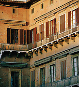 Architectural detail, Siena, Tuscany, Italy