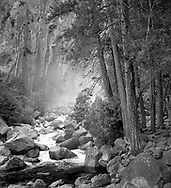 Evening Glow, Lower Yosemite Falls, Kathy Kostelec
