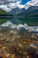 Quartz Lake with Vulture Peak in Glacier National Park, Montana, USA
