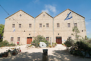 Israel, Northern coastal plains, Kibbutz Nahsholim, The glass factory founded by Baron Rothschild in 1891. Constructed from local eolianite rock. Today it houses the local marine museum