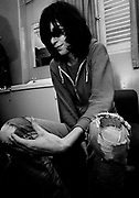 Joey Ramone backstage London 1978