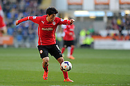 Cardiff City's Kim Bo-Kyung in action . Barclays Premier league, Cardiff city v Fulham at the Cardiff city Stadium in Cardiff , South Wales on Sat 8th March 2014. pic by Andrew Orchard, Andrew Orchard sports photography