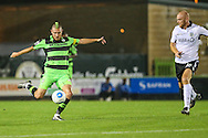 Forest Green Rovers Liam Noble (15) shoots from range during the Vanarama National League match between Forest Green Rovers and Eastleigh at the New Lawn, Forest Green, United Kingdom on 13 September 2016. Photo by Shane Healey.
