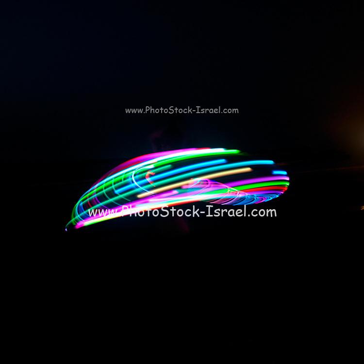 Psychedelic Hula Hoop at night