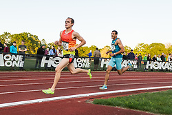 Adrian Martinez Classic track meet, Men's High Performance 5000m, Maverick Darling leads Carlos Jamieson