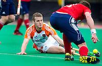 ROTTERDAM - HOCKEY - Goof van der Kamp  tijdens de oefenwedstrijd tussen de mannen van Nederland en Engeland. FOTO KOEN SUYK