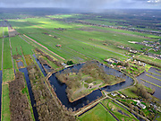 Nederland, Utrecht, Utrecht, 25-02-2020; Fort Ruigenhoek, nabij Groenekan, Onderdeel van de  Nieuwe Hollandse Waterlinie.<br /> Fort Ruigenhoek, part of the New Dutch Waterline.<br /> <br /> luchtfoto (toeslag op standard tarieven);<br /> aerial photo (additional fee required)<br /> copyright © 2020 foto/photo Siebe Swart
