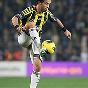 Fenerbahce's Gokhan Gonul during their Turkish superleague soccer derby matches Fenerbahce between Trabzonspor at the Sukru Saracaoglu stadium in Istanbul Turkey on Sunday 18 December 2011. Photo by TURKPIX