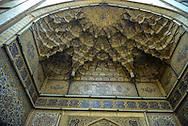 Iran. Tehran, decorated entrance in the bazaar