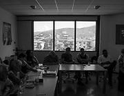 Sede della Lega Toscana a Firenze durante un incontro dei quadro politici con il sindaco di Cascina, primo comune leghista in Toscana, Susanna Ceccaldi.<br /> <br /> 7 luglio  2018 Daniele Stefanini/ oneshot