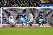 Ross Barkley of Everton (c) shoots wide of goal. Premier league match, Everton v Swansea city at Goodison Park in Liverpool, Merseyside on Saturday 19th November 2016.<br /> pic by Chris Stading, Andrew Orchard sports photography.