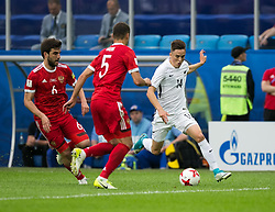 ST. PETERSBURG, June 18, 2017  Ryan Thomas (1st R) competes during the group A match between Russia and New Zealand of the 2017 FIFA Confederations Cup in St. Petersburg, Russia, on June 17, 2017. Russia won 2-0. (Credit Image: © Bai Xueqi/Xinhua via ZUMA Wire)