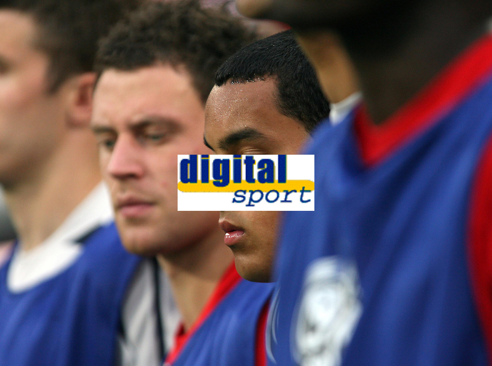 Photo: Chris Ratcliffe.<br /> Sweden v England. FIFA World Cup 2006. 20/06/2006.<br /> Theo Walcott of England on the bench.