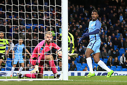 1st March 2017 - FA Cup - 5th Round (Replay) - Manchester City v Huddersfield Town - Kelechi Iheanacho of Man City scores their 5th goal - Photo: Simon Stacpoole / Offside.