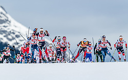 28.01.2018, Seefeld, AUT, FIS Weltcup Langlauf, Seefeld, FIS Weltcup Langlauf, 10 km Sprint, Damen, im Bild Athleten // athletes during ladie's 10 km sprint of the FIS cross country world cup in Seefeld, Austria on 2018/01/28. EXPA Pictures © 2018, PhotoCredit: EXPA/ Stefan Adelsberger