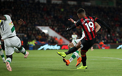 Bournemouth's Junior Stanislas scores his side's first goal of the game during the Carabao Cup, Fourth Round match at the Vitality Stadium, Bournemouth.