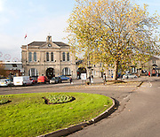 Historic town hall building in the centre of  Melksham, Wiltshire, England, UK