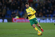 Nelson Oliveira of Norwich city in action. EFL Skybet championship match, Cardiff city v Norwich city at the Cardiff city stadium in Cardiff, South Wales on Friday 1st December 2017.<br /> pic by Andrew Orchard, Andrew Orchard sports photography.
