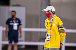 Meier Kai-Steffen, Husband, Trainer Lara de Liedekerke<br /> Olympic Games Tokyo 2021<br /> © Hippo Foto - Dirk Caremans<br /> 26/07/2021