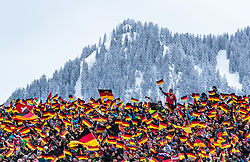 21.01.2018, Heini Klopfer Skiflugschanze, Oberstdorf, GER, FIS Skiflug Weltmeisterschaft, Teambewerb, im Bild Zuschauer mit Fahnen // Spectators with Flags during Team competition of the FIS Ski Flying World Championships at the Heini-Klopfer Skiflying Hill in Oberstdorf, Germany on 2018/01/21. EXPA Pictures © 2018, PhotoCredit: EXPA/ JFK