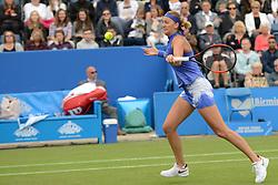 June 23, 2017 - Birmingham, England - PETRA KVITOVA of the Czech Republic in her quarterfinal match v. K. Mladenovic in the Aegon Classic Birmingham tennis tournament. (Credit Image: © Christopher Levy via ZUMA Wire)
