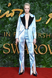 Edie Campbell attending the Fashion Awards in association with Swarovski held at the Royal Albert Hall, Kensington Gore, London