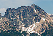 Silver Star Mountain, seen from Pacific Crest Trail at Cutthroat Pass, Okanagon National Forest, Washington, USA.