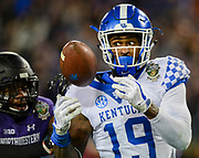 Kayaune Ross<br /> <br /> The University of Kentucky football team falls to Northwestern 23-24 in the Music City Bowl on Friday, December 29, 2017, at Nissan Field in Nashville, Tn.