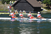 Bled, SLOVENIA. CAN M4-, Semi finals.  2011 FISA World Rowing Championships, Lake Bled. Saturday  03/09/2011  [Mandatory Credit;  Intersport Images]